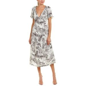Somedays Lovin Taking Flight crane midi dress XS